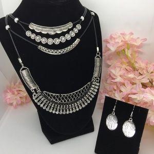 Jewelry - Boho Necklace & Earring Set